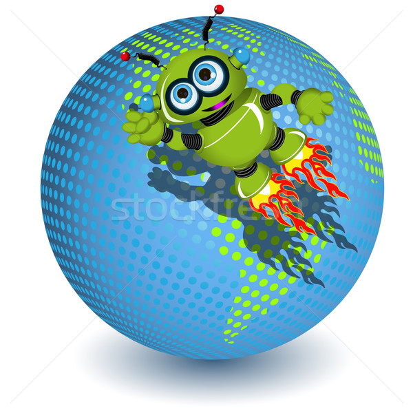 The robot on the planet Stock photo © brux