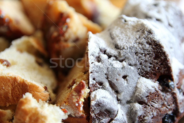 Paskalya kek kuru üzüm kesmek büyük parçalar Stok fotoğraf © brux