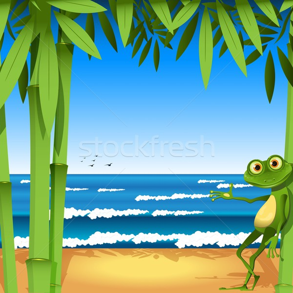 frog on sandy to seacoast Stock photo © brux