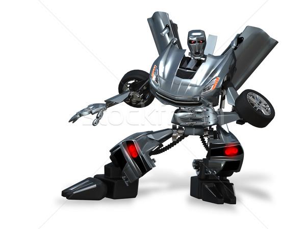 Robot transformatör örnek soyut Metal araba Stok fotoğraf © brux