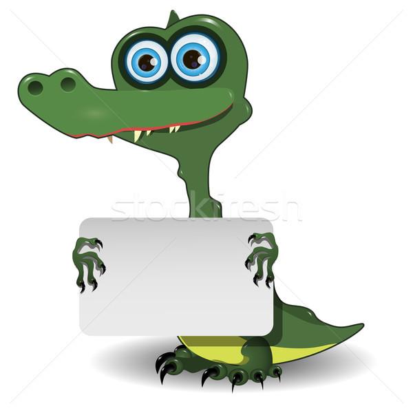 Crocodilo branco ilustração bonitinho verde bebê Foto stock © brux