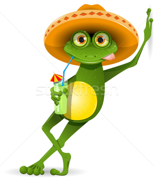Stock photo: Frog in a hat