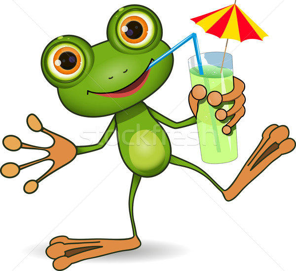 Frog and cocktail Stock photo © brux