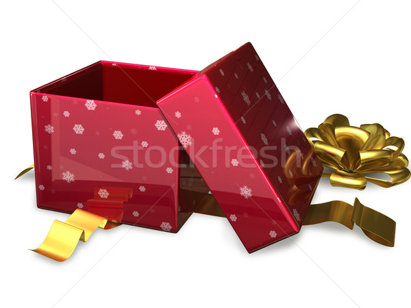open gift box red Stock photo © brux