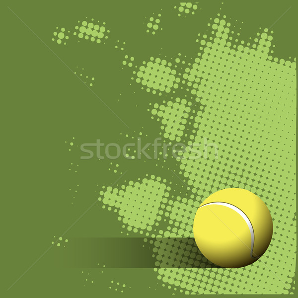 Tennisbal groene illustratie sport achtergrond zomer Stockfoto © brux