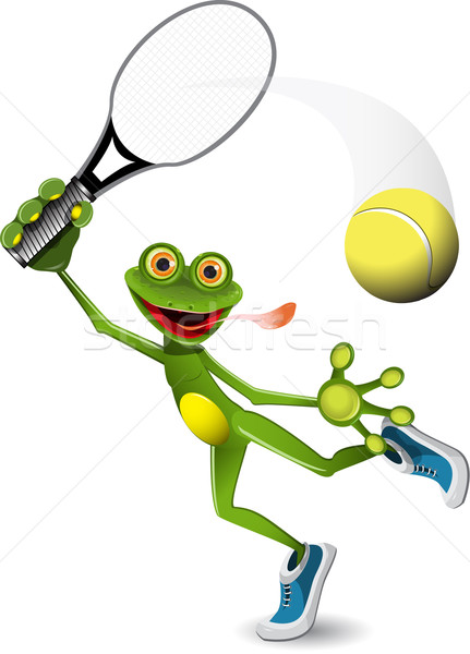 frog tennis player Stock photo © brux