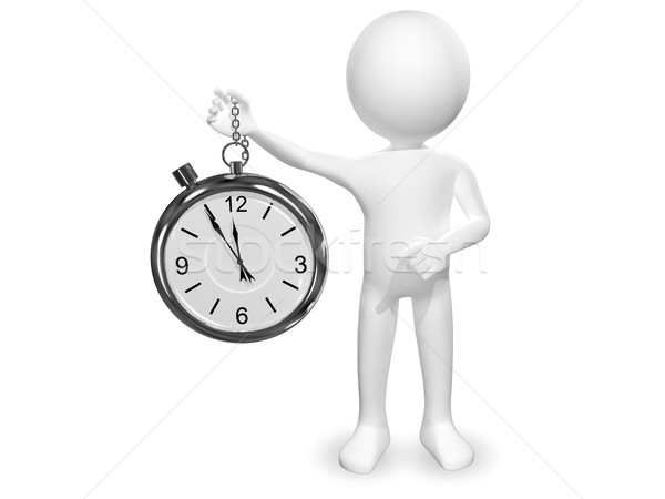 man with clock Stock photo © brux