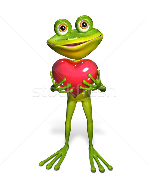 Frog with heart Stock photo © brux