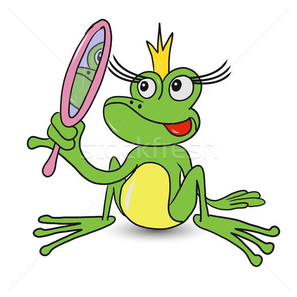 żaba princess lustra ilustracja bajki złota Zdjęcia stock © brux
