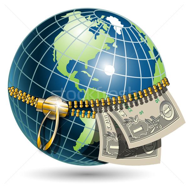 globe and dollar Stock photo © brux