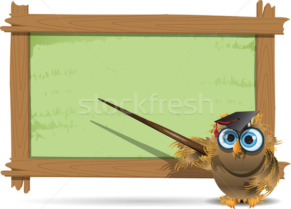 owl teacher Stock photo © brux