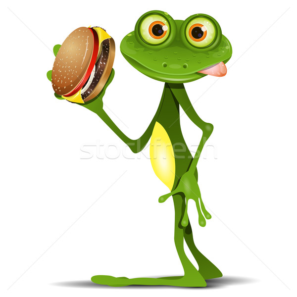 Frog and Cheeseburger Stock photo © brux