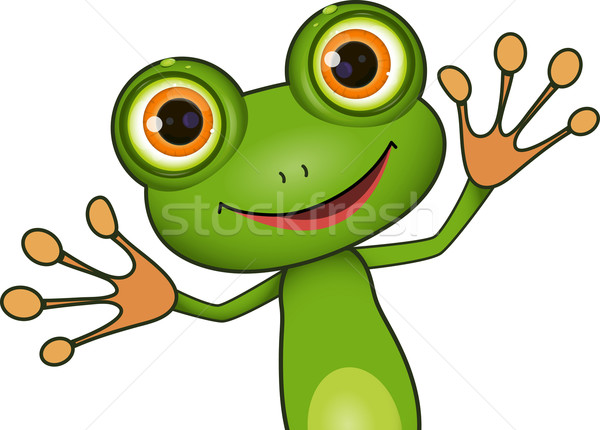 green cute frog Stock photo © brux