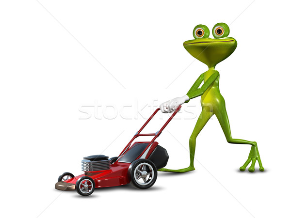 Frog with a lawn mower Stock photo © brux