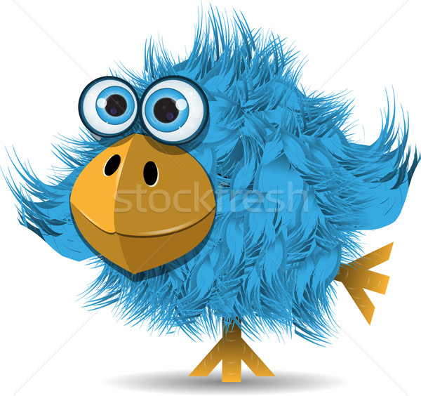 very funny blue bird Stock photo © brux