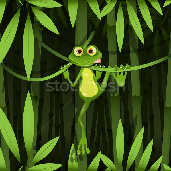 frog in a jungle Stock photo © brux