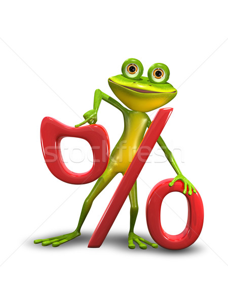 Frog and the Percent Sign Stock photo © brux