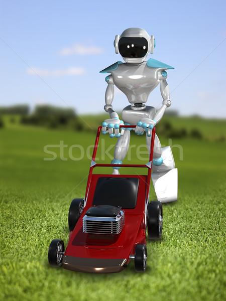 3d иллюстрации робота компьютер технологий Сток-фото © brux