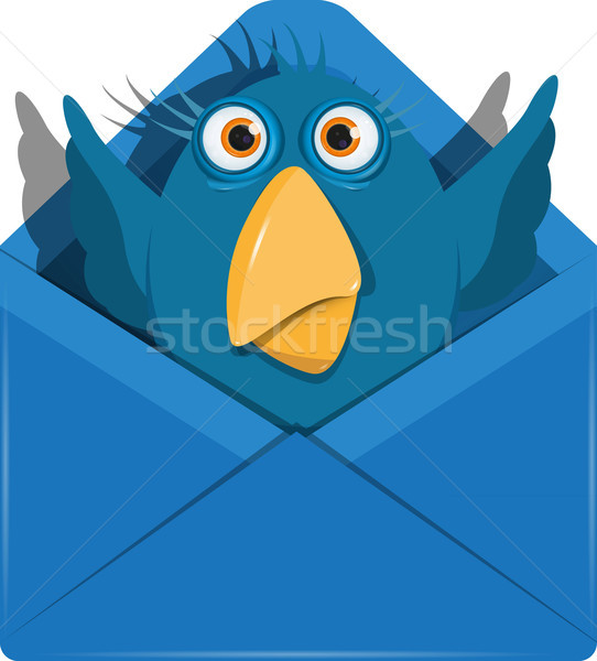 Bird in the envelope Stock photo © brux