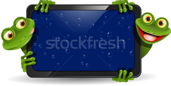 frog with gadget Stock photo © brux