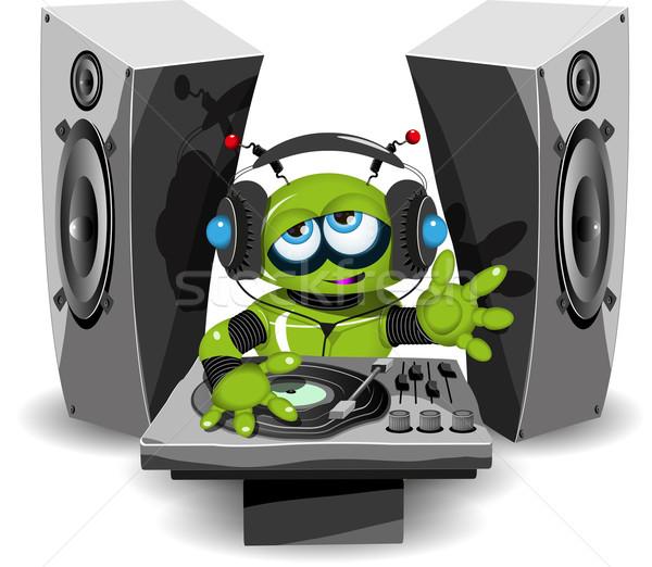 Robot örnek yeşil müzik parti Stok fotoğraf © brux