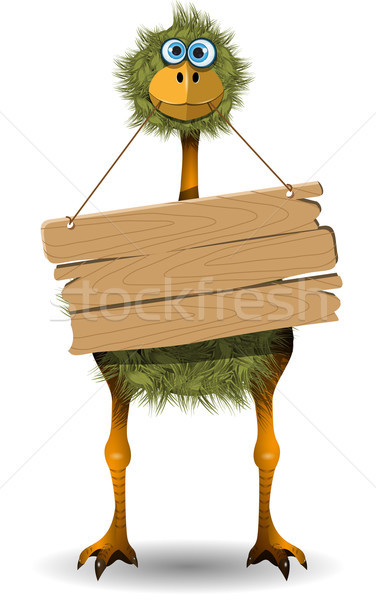 funny ostrich Stock photo © brux