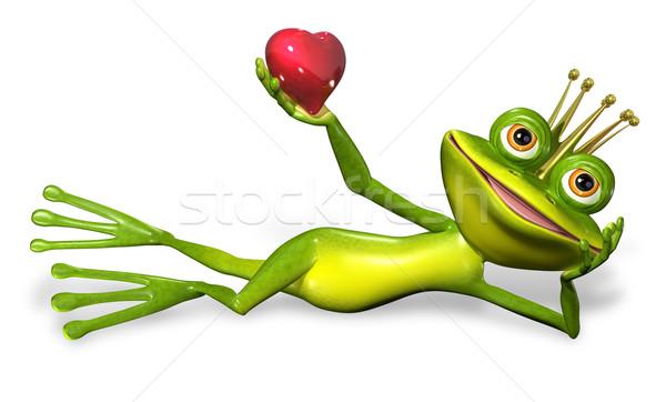 王女 カエル 抽象的な 実例 緑 笑顔 ストックフォト © brux