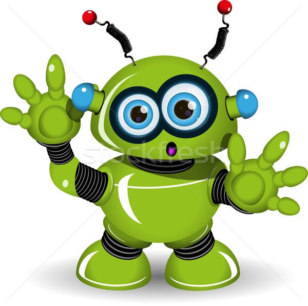 şaşırmış robot örnek yeşil Metal bilim Stok fotoğraf © brux