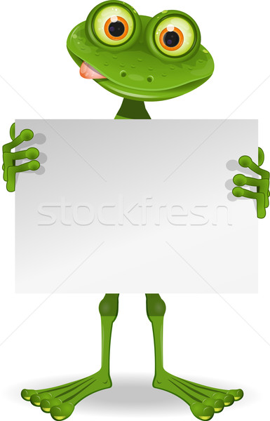 Frog with a white paper Stock photo © brux