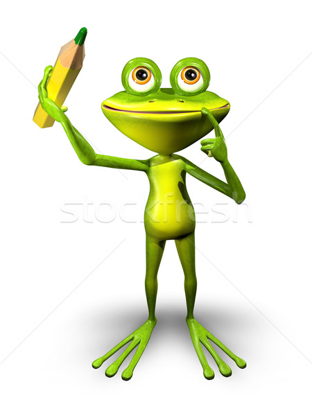 Frog with Pencil Stock photo © brux