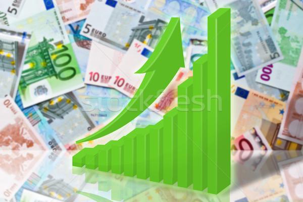 Euro illustrazione verde grafico arrow banca Foto d'archivio © brux