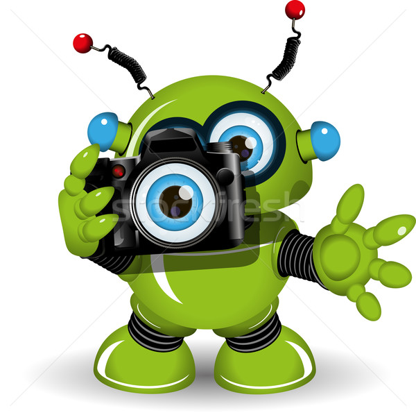 Robot with Camera Stock photo © brux