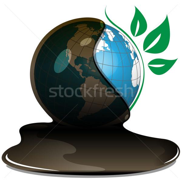 globe and oil Stock photo © brux