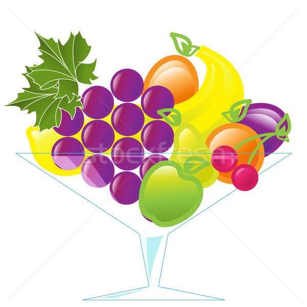 Frutti vaso illustrazione diverso vetro bianco Foto d'archivio © brux