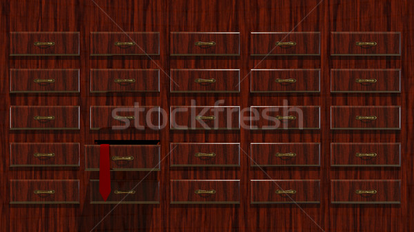 3D illustration Abstract Locker with Tie Stock photo © brux