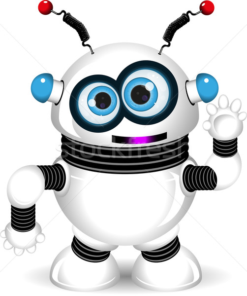 Komik robot örnek soyut uzay Stok fotoğraf © brux