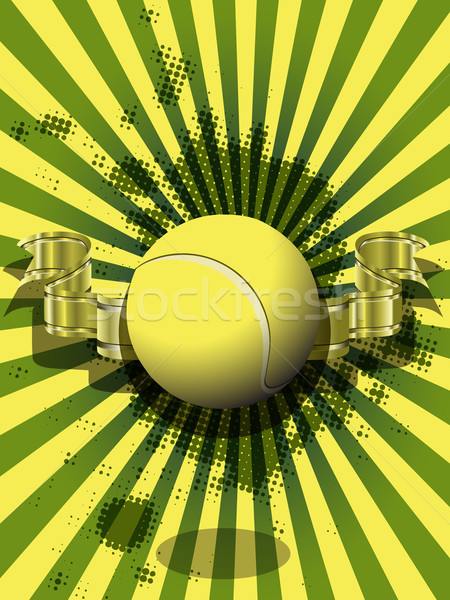 tennis ball on a green background Stock photo © brux