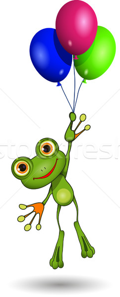 Frog on Balloons Stock photo © brux