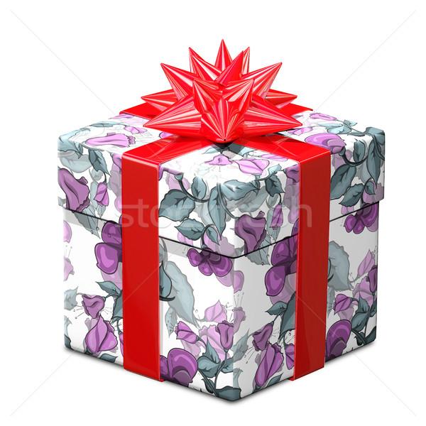Illustrazione 3d regalo modello di fiore pattern amore Foto d'archivio © brux