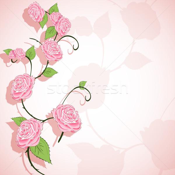 цветочный иллюстрация аннотация роз цветок дизайна Сток-фото © brux