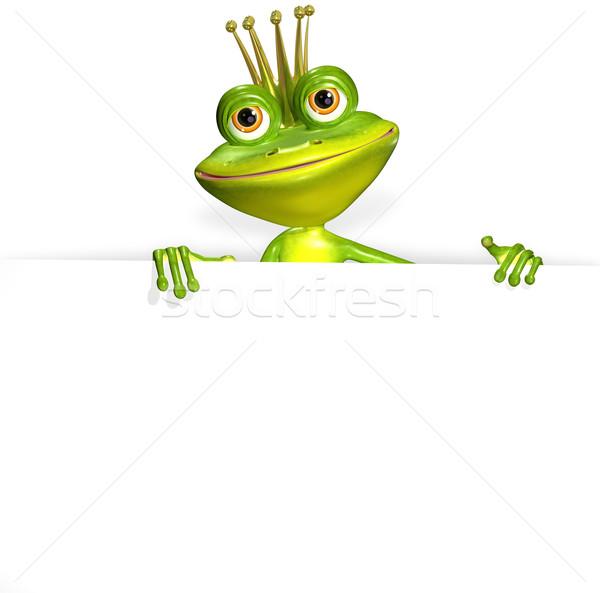 カエル 白 実例 陽気な 緑 自然 ストックフォト © brux