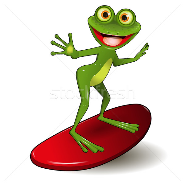 Frog Surfer Stock photo © brux