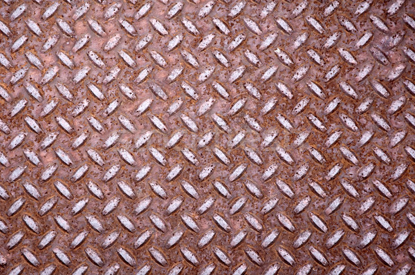 Rusty diamond shape steel plate Stock photo © bryndin