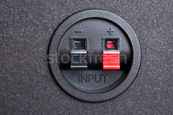 Audio input. Spring clips. Stock photo © bryndin