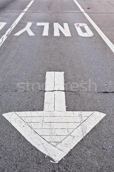 舗装 ストレート レーン することができます 中古 ストックフォト © bryndin