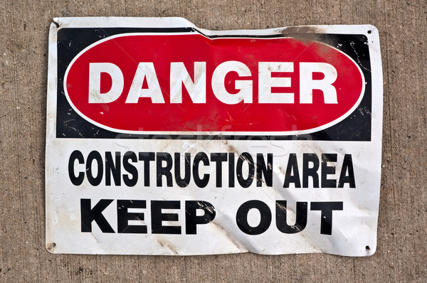 Danger Construction Area Keep Out sign Stock photo © bryndin