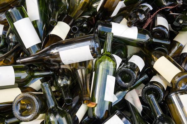 空っぽ ワイン ボトル 緑 ストックフォト © bryndin