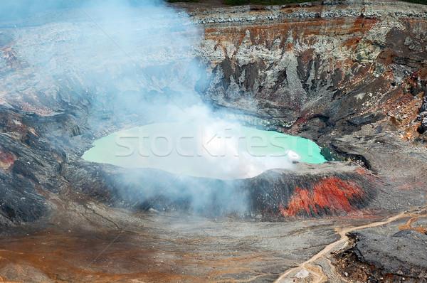 火山 喫煙 クレーター コスタリカ 水 山 ストックフォト © bryndin