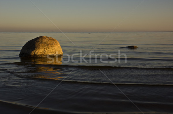 海 海岸 日没 フィンランド ビーチ ストックフォト © bryndin