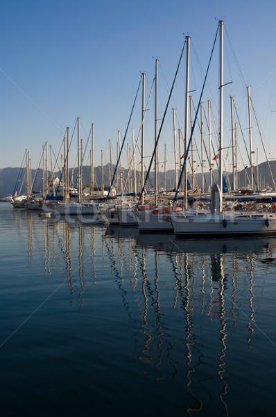 日没 マリーナ トルコ 地中海 海 スポーツ ストックフォト © bryndin